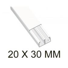Canaleta blanca unex 78093-2 con tabique 20x30mm