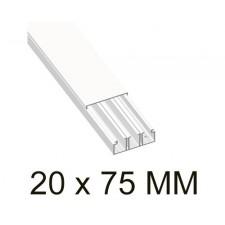 Canaleta blanca unex 78147-2 con tabique 20x75mm