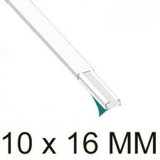 Canaleta blanca autoadhesiva unex 78021-2A 10x16mm
