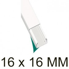 Canaleta blanca autoadhesiva unex 78031-2A 16x16mm