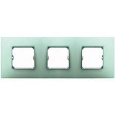 Marco color verde Simon 27 Neos 3 elementos 27773-62