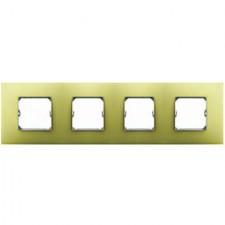 Marco 4 elementos color amarillo 27774-61 simon 27 neos