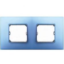 Marco color azul Simon 27 Neos 2 elementos 27772-63