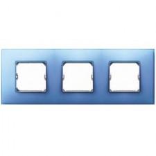 Marco color azul Simon 27 Neos 3 elementos 27773-63