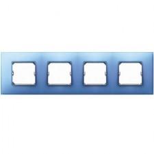Marco color azul Simon 27 Neos 4 elementos 27774-63