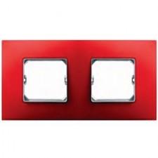 Marco color rojo Simon 27 Neos 2 elementos 27772-66