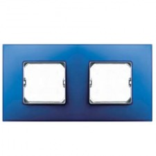 Marco 2 elementos azul eléctrico Simon 27 Neos 27772-67