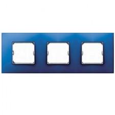 Marco 3 elementos azul eléctrico Simon 27 Neos 27773-67