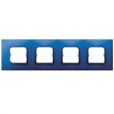 Marco 4 elementos azul eléctrico Simon 27 Neos 27774-67