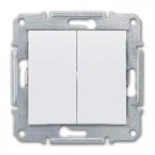 Doble conmutador Schneider Sedna SDN0600121 blanco