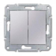 Doble conmutador Schneider Sedna SDN0600160 aluminio