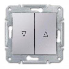 Interruptor persianas Schneider Sedna SDN1300360 aluminio