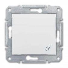 Pulsador símbolo campana Schneider Sedna SDN0800121 blanco