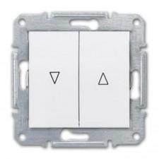 Doble pulsador persianas Schneider Sedna SDN1300121 blanco