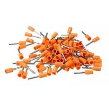 Punteras aisladas hueca para cable de 4mm naranja
