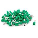 Punteras aisladas hueca para cable de 6mm verde