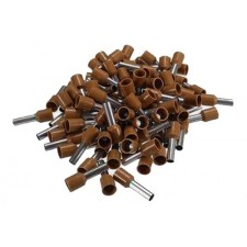 Punteras aisladas hueca para cable de 10mm marrón