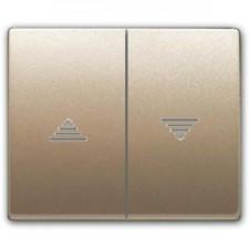 Tecla doble pulsador interruptor persianas BJC Mega 22765-bn
