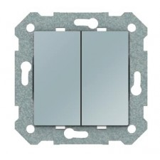 Doble interruptor BJC VIVA 23509 PL plata luna
