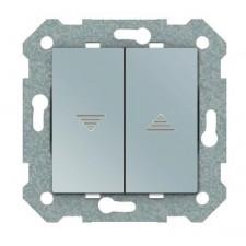 Doble interruptor persiana BJC Viva 23569 PL plata luna