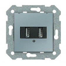 Cargador USB BJC serie Viva 23579 PL plata luna