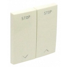Tecla doble interruptor de persianas Efapel 90613 T PE PERLA