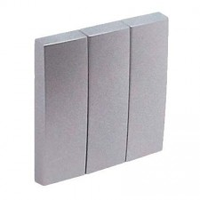 Tecla triple interruptor Efapel 90661 T AL Logus 90 aluminio