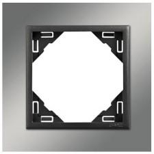Marco simple mecanismos Efapel 90910 T RS CROMO GRIS