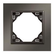 Marco simple mecanismos Efapel 90910 T QS NIQUEL GRIS