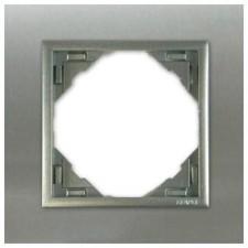 Marco simple mecanismos Efapel 90910 T IA INOX ALUMINIO
