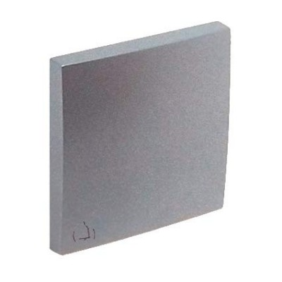 Tecla pulsador símbolo campana Efapel 90605 T AL Logus 90 aluminio