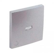 Tecla pulsador con piloto símbolo luz Efapel 90797 T AL Logus 90 aluminio