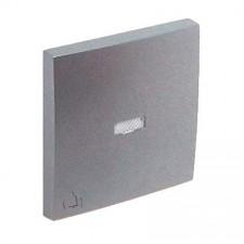 Tecla pulsador luminoso símbolo campana Efapel 90605 T AL Logus 90 aluminio