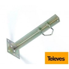 Garra soporte mastil para pared atornillable 300mm Televes 2401