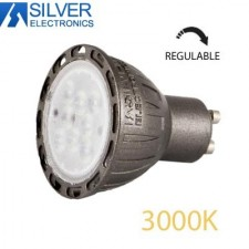 Bombilla LED Regulable GU10 7W 3000K Silver Electronics