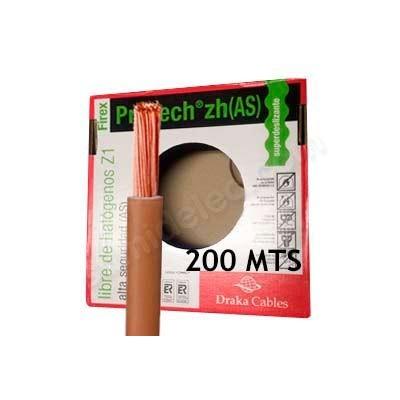 Caja de cable 200m unipolar marr n 2 5mm libre de for Cable libre de halogenos 25mm