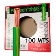 Rollo de cable 25mm amarillo verde libre de halógenos 100m