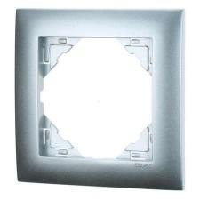Marco mecanismos Efapel simple 90910t al aluminio