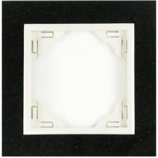Marco simple mecanismos Efapel 90910 T GG granito hielo
