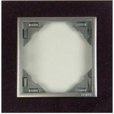 Marco simple mecanismos Efapel 90910 T GA granito aluminio