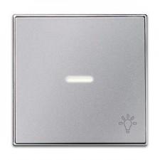 Tecla con visor luz 8504.4 pl plata niessen sky