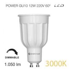 Bombilla led POWER regulable GU10 12W luz cálida Beneito & Faure