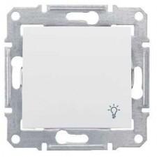Pulsador símbolo luz Schneider Sedna SDN0900121 blanco