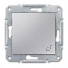 Pulsador símbolo campana Schneider Sedna SDN0800160 aluminio