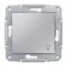 Pulsador símbolo luz Schneider Sedna SDN0900160 aluminio