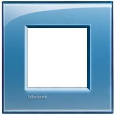 Marco BTicino deep azul cuadrado de 1 ventana LNA4802AD