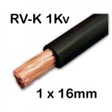 Manguera cable flexible 1x16 RVK color negro 1Kv