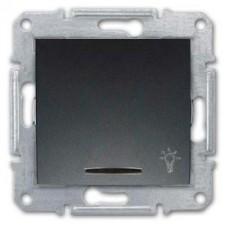 Pulsador Schneider Sedna SDN4101170 grafito piloto luz