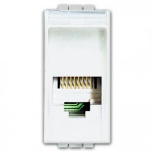 Base RJ11 bticino Livinglight N4258/11N color blanco