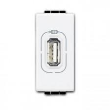 Toma USB con tensión bticino Livinglight N4285C1 blanco